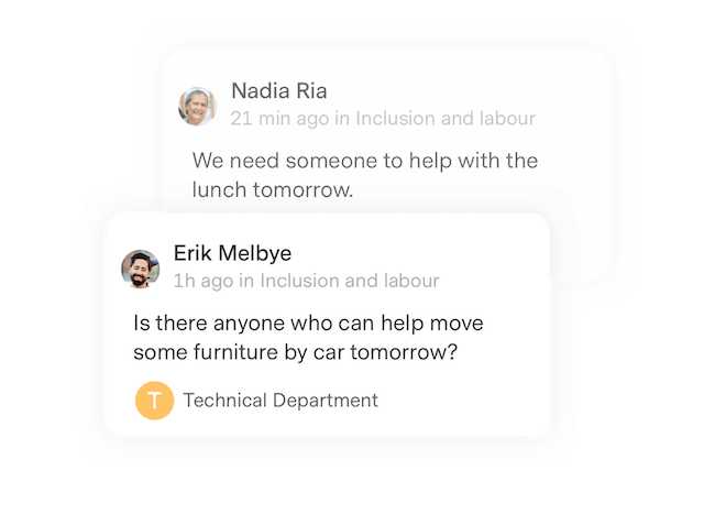 Inclusion and labour requests